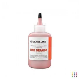 GA10 red-orange Glassline...