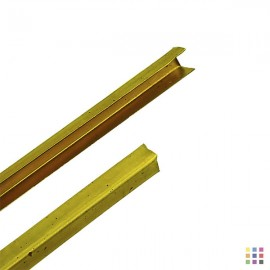 Brass U came 2m / 4x4mm