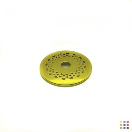 Perforated round cap 6.3cm