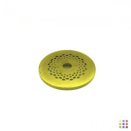 Perforated round cap 7.6cm
