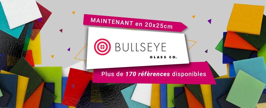 Verre Bullseye en 20x25cm