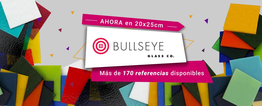 Vidrio Bullseye en 20x25cm